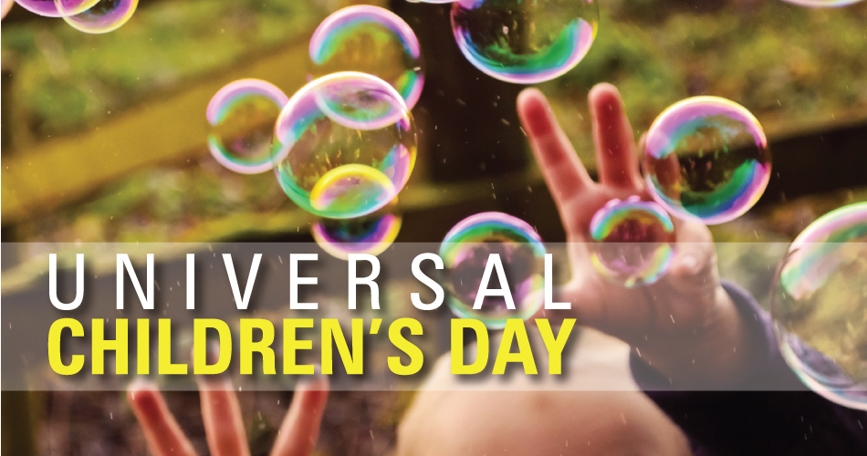 universal children day Universal children day is celebrated on 20 november every year with the purpose of promoting international togetherness and awareness among children or we can also say that this day is an.