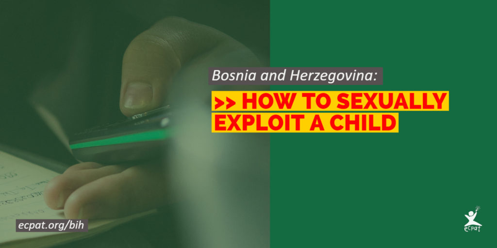 How to sexually exploit a child - ECPAT report Bosnia and Herzegovina Twitter