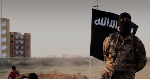 Daesh Isis figther in Iraq Camp