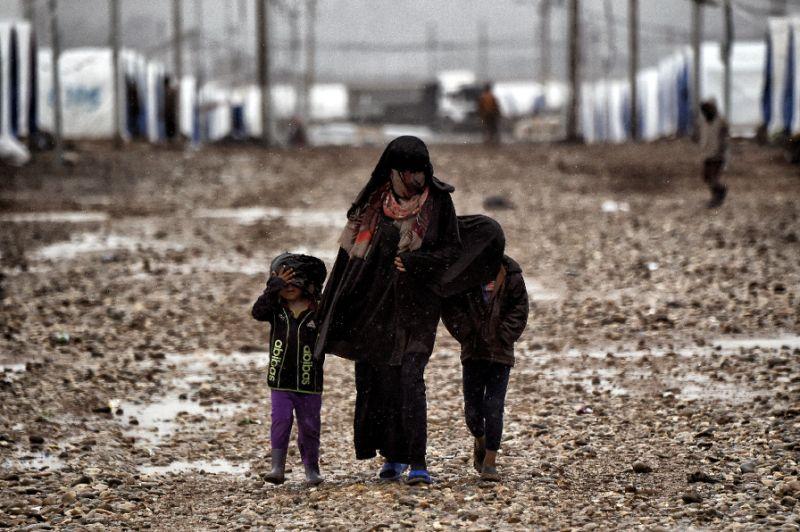 Sexual exploitation Iraq - Hamam al-Alil Camp - Photo AFP