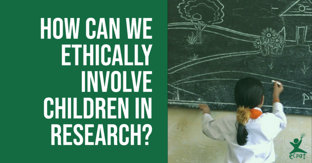 how can we ethically involve children in research?